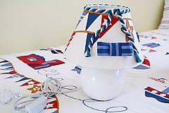 Svietidlá a sviečky - Dekoračná lampa do detskej izby biela - kolekcia Námorník - 11158282_