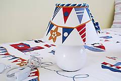Svietidlá a sviečky - Dekoračná lampa do detskej izby biela - kolekcia Námorník - 11158283_