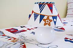 Svietidlá a sviečky - Dekoračná lampa do detskej izby biela - kolekcia Námorník - 11158285_