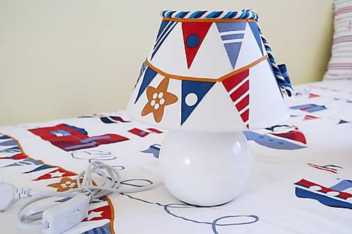 Dekoračná lampa do detskej izby biela - kolekcia Námorník