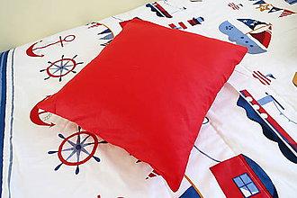 Textil - Dekoračný vankúš červený - kolekcia Námorník - 11158327_