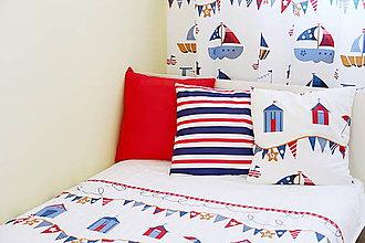 Textil - Obliečka na vankúš so zipsom - kolekcia Námorník - 11158398_