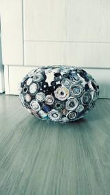 Nádoby - Váza, svietnik, zaujímavá obojstranná dekorácia... - zrecyklované časopisy - 11157501_