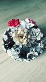 Nádoby - Váza, svietnik, zaujímavá obojstranná dekorácia... - zrecyklované časopisy - 11157503_