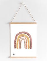 Detské doplnky - Art Print - dievčenská dúha - 11160156_