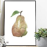 Detské doplnky - Art Print - usmiata hruška - 11160206_