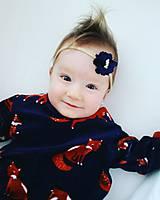 Detské doplnky - čelenka modrý kvet - 11156830_