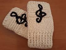 Rukavice - Háčkované návleky na rúčky - 11161030_