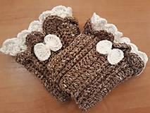Rukavice - Háčkované návleky na rúčky - 11161050_
