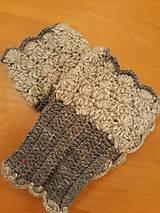 Rukavice - Háčkované návleky na rúčky - 11161056_
