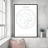 Grafika - Hviezdna mapa BIELA - na mieru - 11159366_