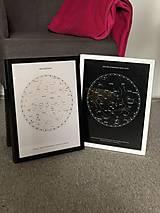 Grafika - Hviezdna mapa BÉŽOVÁ - na mieru - 11159405_