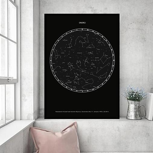 Hviezdna mapa ČIERNA - na mieru