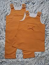 Detské oblečenie - SET PRE DVOJIČKY sukňa & nohavice na traky - 11160981_