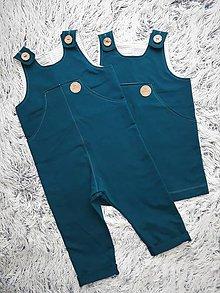 Detské oblečenie - SET PRE DVOJIČKY sukňa & nohavice na traky   (Set PETROLEJ) - 11160938_