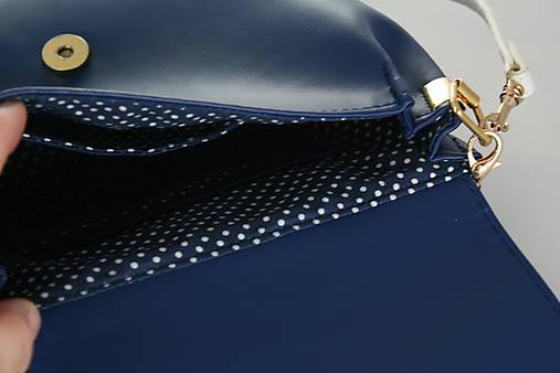 kabelka Linda Pearls modrá + modrotlač 1