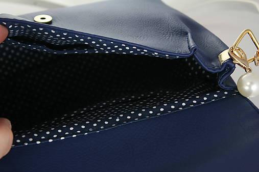 kabelka Linda Pearls modrá + modrotlač 3