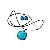 Sady šperkov - Bora Bora - tyrkysová sada sklenených šperkov - 11159369_