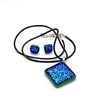 Sady šperkov - Raindrops - sada sklenených šperkov - 11159261_