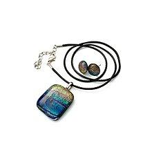 Sady šperkov - Dark Crystal Rainbow - sada sklenených šperkov - 11159558_