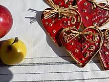 Dekorácie - Keramické srdiečko červené - 11160268_
