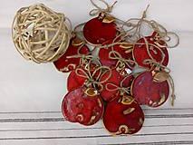 Dekorácie - Keramické jabĺčko červené - 11160346_