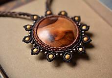 Náhrdelníky - Drevený náhrdelník slnko •Babie leto• - 11158820_
