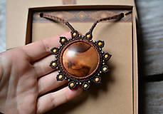 Náhrdelníky - Drevený náhrdelník slnko •Babie leto• - 11158841_