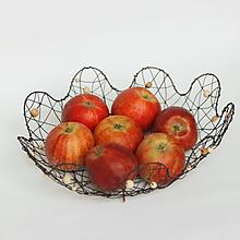 Košíky - košík kvet  (drevené korálky) - 11162407_