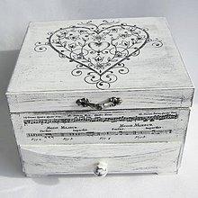 """Krabičky - Šperkovnica -""""Tóny srdca.."""" - 11161572_"""