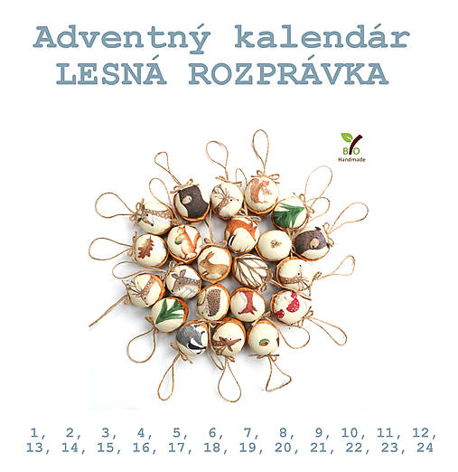 REZERVÁCIA: Adventný kalendár LESNÁ ROZPRÁVKA