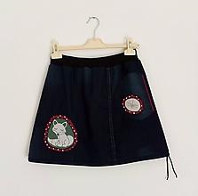 Sukne - SLEVA...Jeansová sukně LIŠKA A VÁŽKA s kapsou - 11162539_