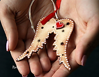 Dekorácie - Vianočná ozdoba Anjelské krídla - 11163774_