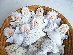 Dekorácie - Vianoční anjeli - 11161499_