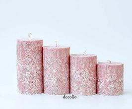 Svietidlá a sviečky - Old Rose - adventné sviečky (bez darčekového balenia) - 11162416_