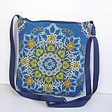 Kabelky - Modrá Kabelka Mandala - 11164360_
