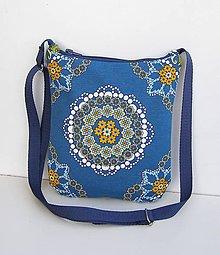 Kabelky - Modrá kabelka Mandala - 11163803_