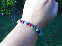 Náramky - farebné dni-náramok- - 11164698_