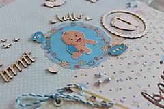 Papiernictvo - Fotoalbum pre chlapca (krstiny, narodeniny) - 11164316_