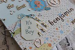 Papiernictvo - Fotoalbum pre chlapca (krstiny, narodeniny) - 11164320_