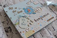 Papiernictvo - Fotoalbum pre chlapca (krstiny, narodeniny) - 11164328_