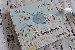 Papiernictvo - Fotoalbum pre chlapca (krstiny, narodeniny) - 11164329_
