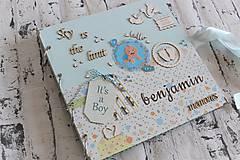 Papiernictvo - Fotoalbum pre chlapca (krstiny, narodeniny) - 11164352_