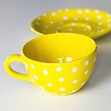 Nádoby - Žltá šálka na kávičku - 11161262_