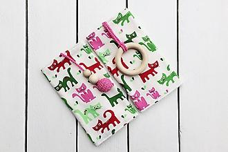Detské doplnky - Slintáčiky mačky - návleky na ergonomický nosič - 11162171_