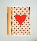 Papiernictvo - Diár Ručne šitý folk * zápisník * sketchbook A5 s koženým chrbtom - 11163924_