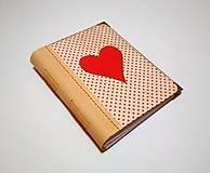 Papiernictvo - Diár Ručne šitý folk * zápisník * sketchbook A5 s koženým chrbtom - 11163925_