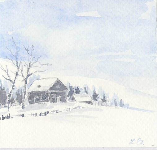 Pohľadnica - Zimná krajinka 1