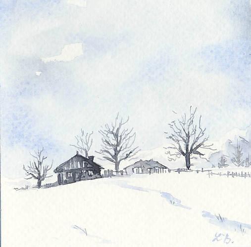 Pohľadnica - Zimná krajinka 2