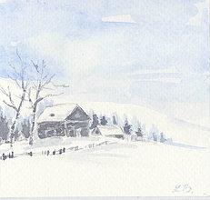 Papiernictvo - Pohľadnica - Zimná krajinka 1 - 11161200_